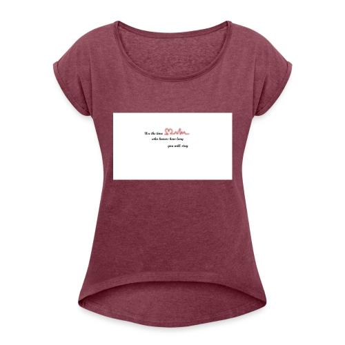 Zeit - Frauen T-Shirt mit gerollten Ärmeln