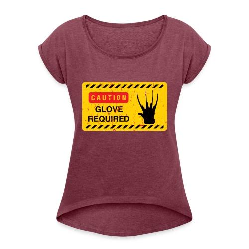Oldtee Glove Required - T-shirt à manches retroussées Femme