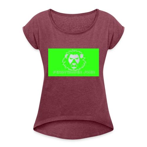 youtube merchandise - Frauen T-Shirt mit gerollten Ärmeln