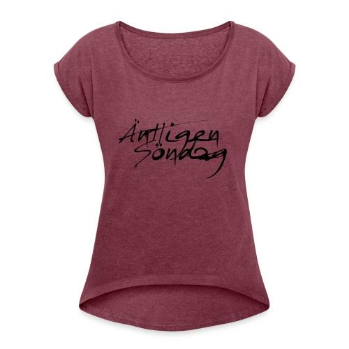 Antligen Sondag - T-shirt med upprullade ärmar dam