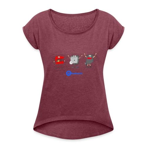 3D Extruders - Camiseta con manga enrollada mujer