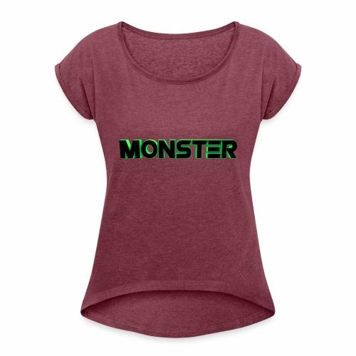 xtreme Monster - Camiseta con manga enrollada mujer