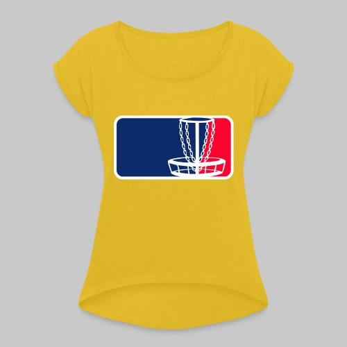 Disc golf - Naisten T-paita, jossa rullatut hihat