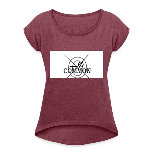 nommocnU - Women's T-Shirt with rolled up sleeves