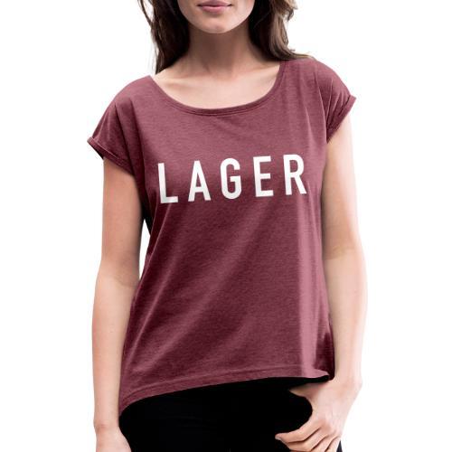Lager - Frauen T-Shirt mit gerollten Ärmeln