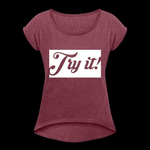 TRY IT! / INTENTALO! - Camiseta con manga enrollada mujer