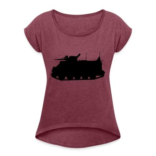 Swedish APC Pansarbandvagn 302 - PBV 302 - T-shirt med upprullade ärmar dam
