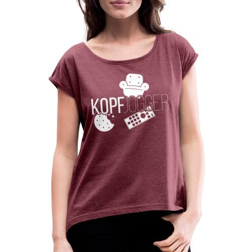Kopfjogger - Frauen T-Shirt mit gerollten Ärmeln