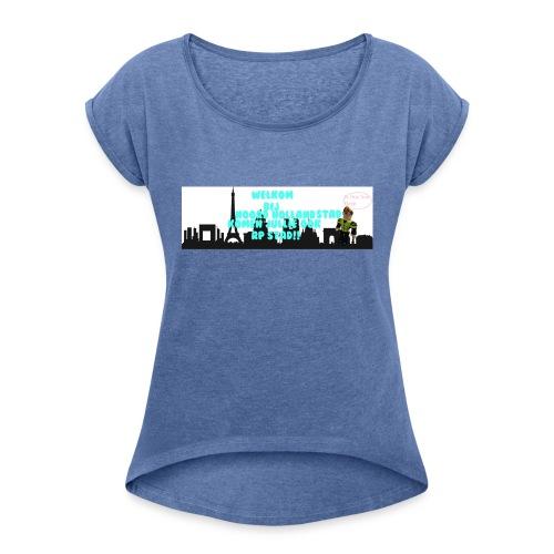 Noord Holland city - Vrouwen T-shirt met opgerolde mouwen