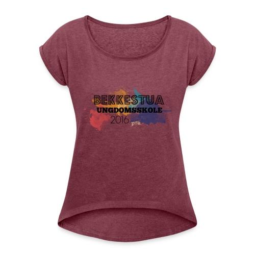 Skolegenser - T-skjorte med rulleermer for kvinner