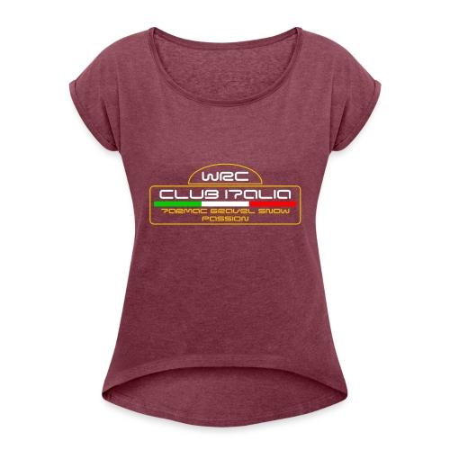 WRC CLUB ITALIA LOGO POSTERIORE - Maglietta da donna con risvolti