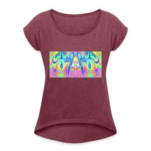 arts with isa - Frauen T-Shirt mit gerollten Ärmeln