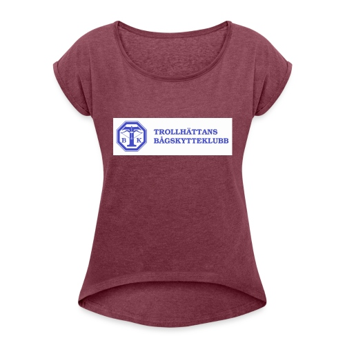 T-shirt Herr - T-shirt med upprullade ärmar dam