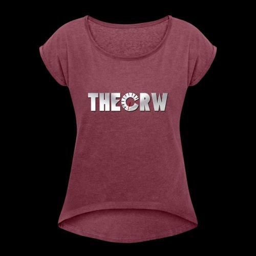 THECRW LOGO - Frauen T-Shirt mit gerollten Ärmeln