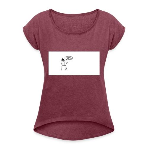 DE DIKZAK - Vrouwen T-shirt met opgerolde mouwen
