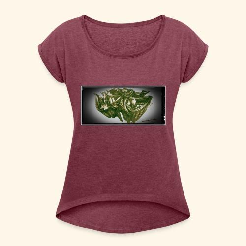 h4kke gr4ff - Frauen T-Shirt mit gerollten Ärmeln