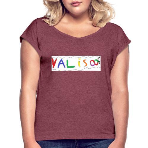 bild utsidan - T-shirt med upprullade ärmar dam