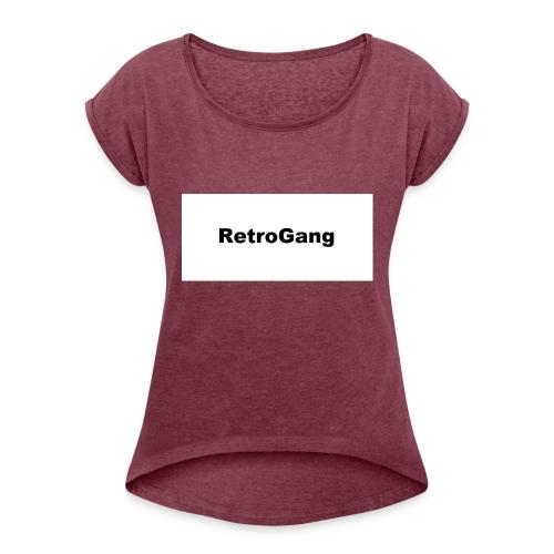 T-shirt retro gang - Vrouwen T-shirt met opgerolde mouwen