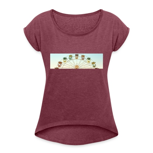 header_image_cream - Women's T-Shirt with rolled up sleeves