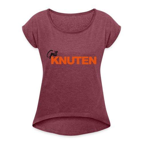 gatekjøkken - T-skjorte med rulleermer for kvinner