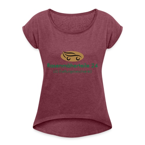 EPSLogo - Frauen T-Shirt mit gerollten Ärmeln