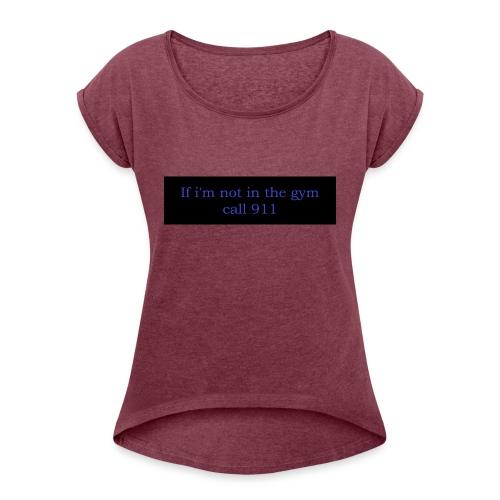 swole3 - T-shirt med upprullade ärmar dam