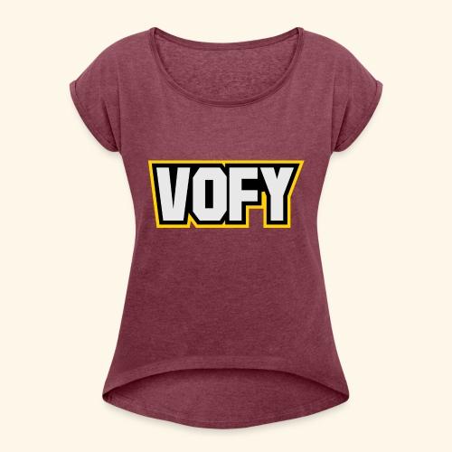 vofy - Frauen T-Shirt mit gerollten Ärmeln