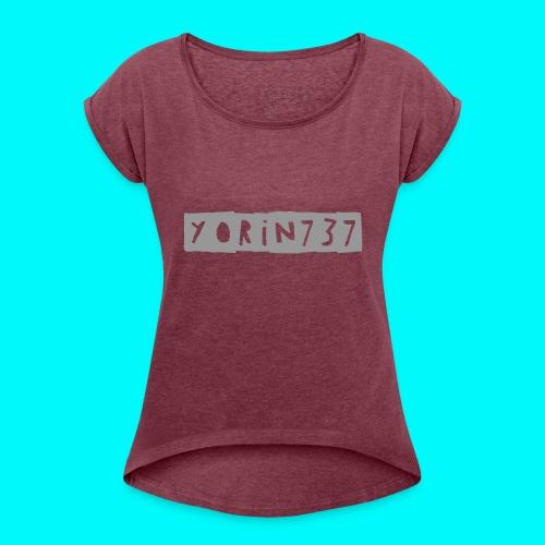 yorin737 pet - Vrouwen T-shirt met opgerolde mouwen