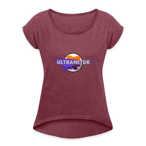 ULraNaetDK2 - Dame T-shirt med rulleærmer