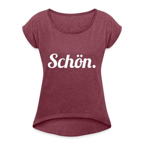 schoen - Frauen T-Shirt mit gerollten Ärmeln