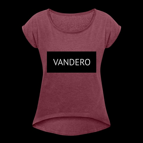 Line black vandero - Women's T-Shirt with rolled up sleeves
