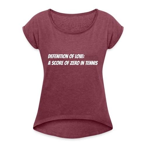 Tennis Love sweater men - Vrouwen T-shirt met opgerolde mouwen