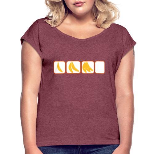 One banana, two banana, three banana, four! - Frauen T-Shirt mit gerollten Ärmeln