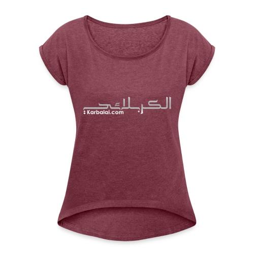 logo - Dame T-shirt med rulleærmer