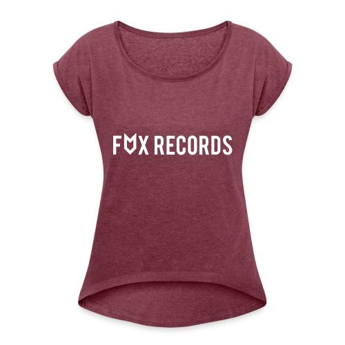 logowit - Vrouwen T-shirt met opgerolde mouwen