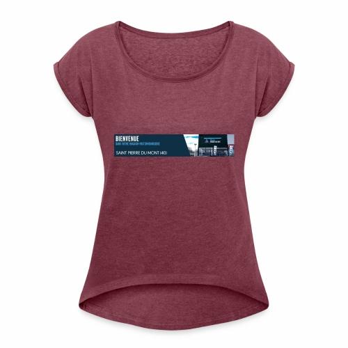Saint pierre du mont - T-shirt à manches retroussées Femme