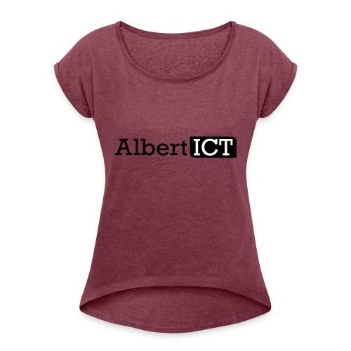 Logo_AlbertICT - Vrouwen T-shirt met opgerolde mouwen