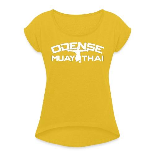 OMT LOGO2012 HVID 08 08 2 2 - Dame T-shirt med rulleærmer