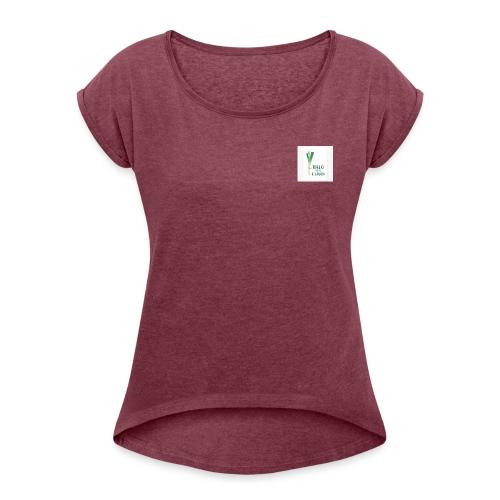 halllo ich bims - Frauen T-Shirt mit gerollten Ärmeln