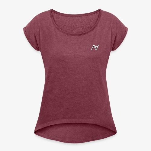Nasex - Camiseta con manga enrollada mujer