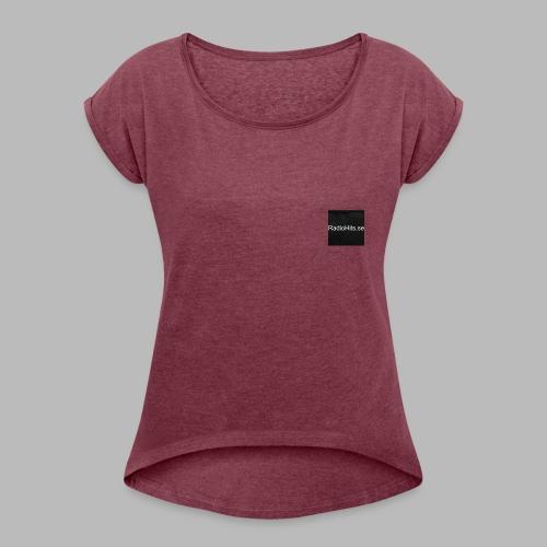 radiohits1 - T-shirt med upprullade ärmar dam