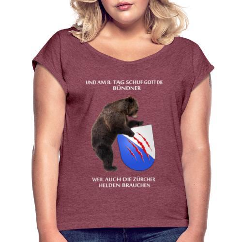 Bär Zürcher - Frauen T-Shirt mit gerollten Ärmeln