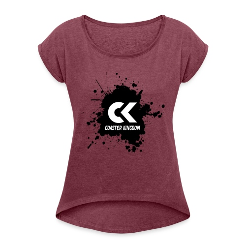Coaster Kingdom Splash - Women's T-Shirt with rolled up sleeves