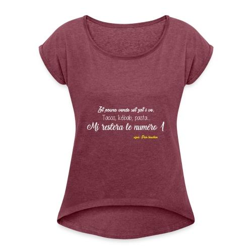 Bouchon - T-shirt à manches retroussées Femme