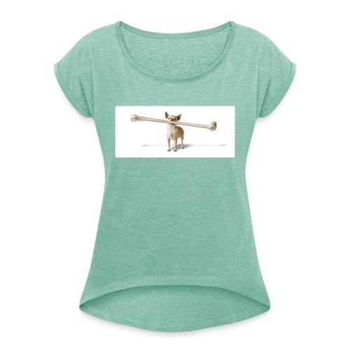 Tough Guy - Vrouwen T-shirt met opgerolde mouwen