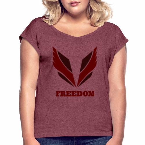 Freedom collection - T-shirt à manches retroussées Femme