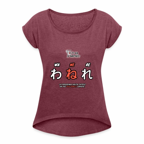 PIÙ SIMILI - Maglietta da donna con risvolti