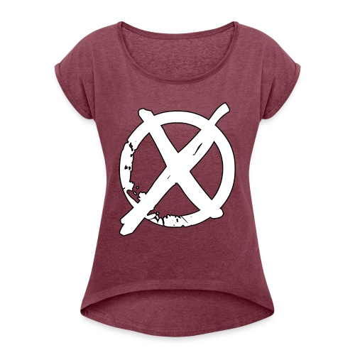 Tony Cole - Modern Straight Edge - Women's T-Shirt with rolled up sleeves
