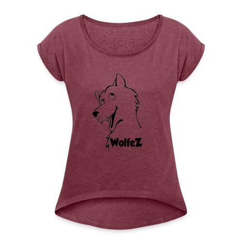 WolfeZ Klær - T-skjorte med rulleermer for kvinner