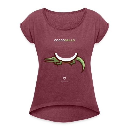 Cocco-drillo 2 - Maglietta da donna con risvolti